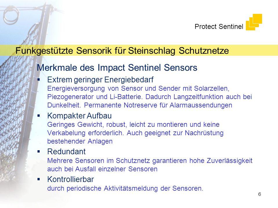 Merkmale des Impact Sentinel Sensors