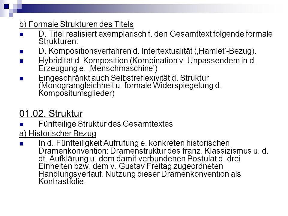 01.02. Struktur b) Formale Strukturen des Titels