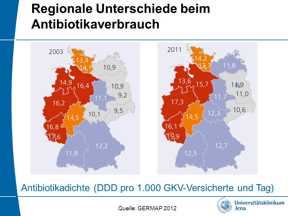 Regionale Unterschiede beim Antibiotikaverbrauch