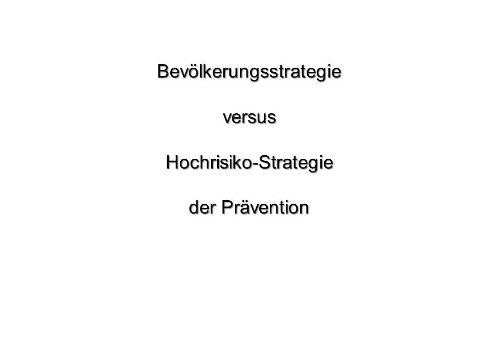 Bevölkerungsstrategie versus Hochrisiko-Strategie der Prävention