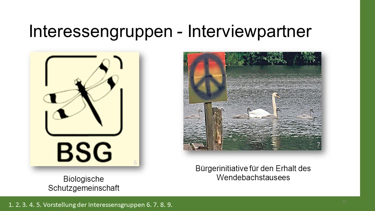Interessengruppen - Interviewpartner
