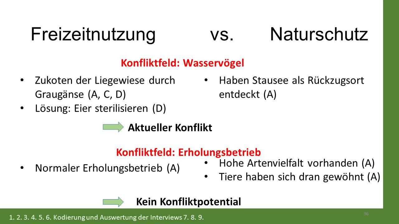 Freizeitnutzung vs. Naturschutz