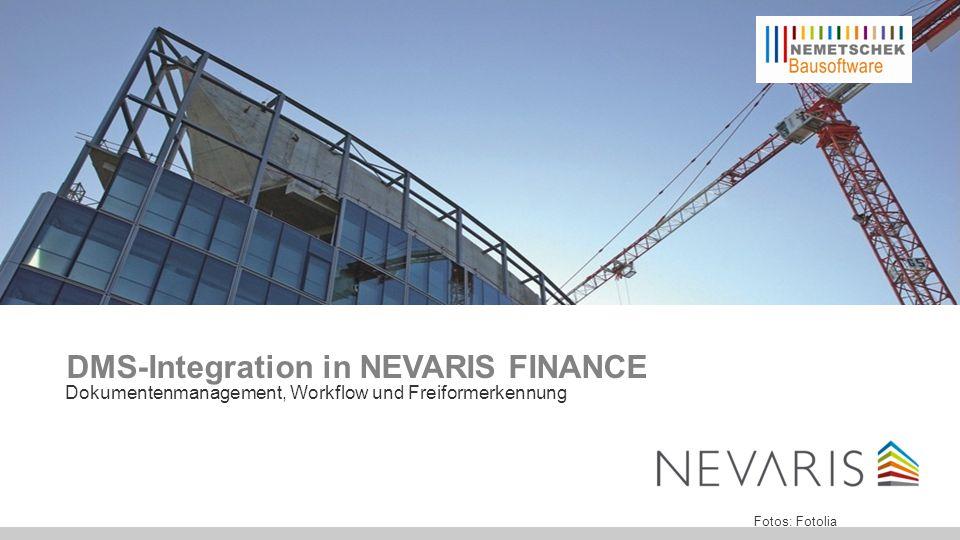 Einleitung NEVARIS FINANCE ist das ideale Programm für mittlere und größere Baufirmen.