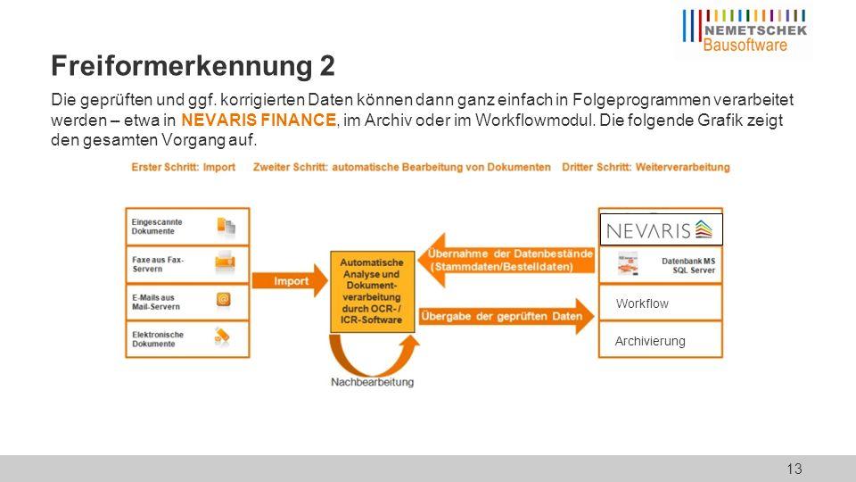 """Freiformerkennung 3 Ein Beispiel für das """"Erkennen von Rechnungsdaten:"""