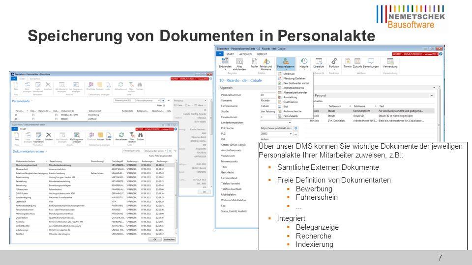 Indexierung Sämtliche Dokumentarten Für ein- und ausgehende Belege