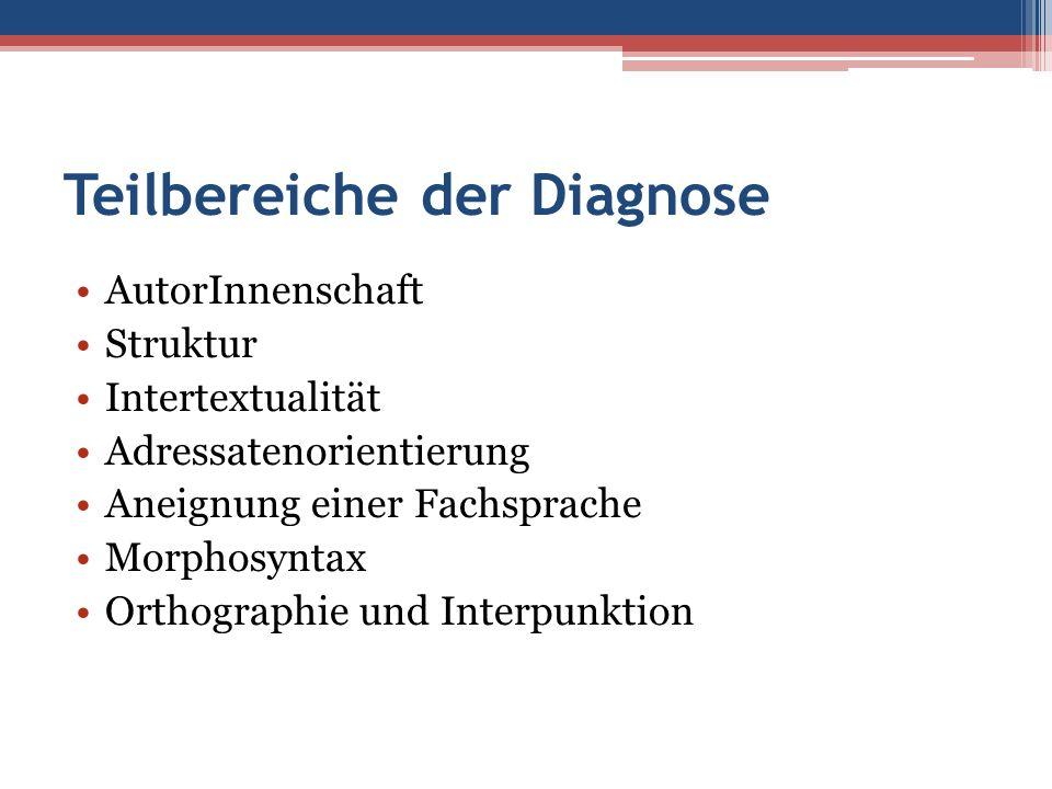 Teilbereiche der Diagnose