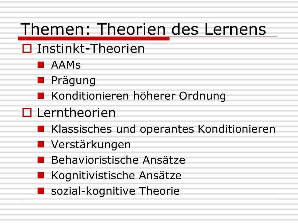 Themen: Theorien des Lernens