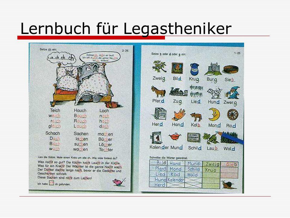 Lernbuch für Legastheniker