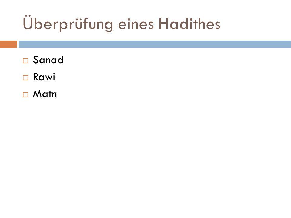 Überprüfung eines Hadithes
