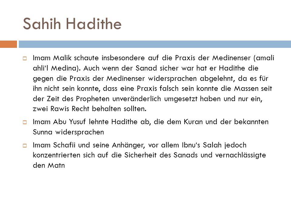 Sahih Hadithe