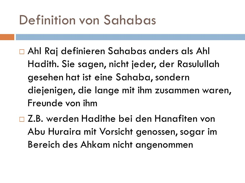 Definition von Sahabas