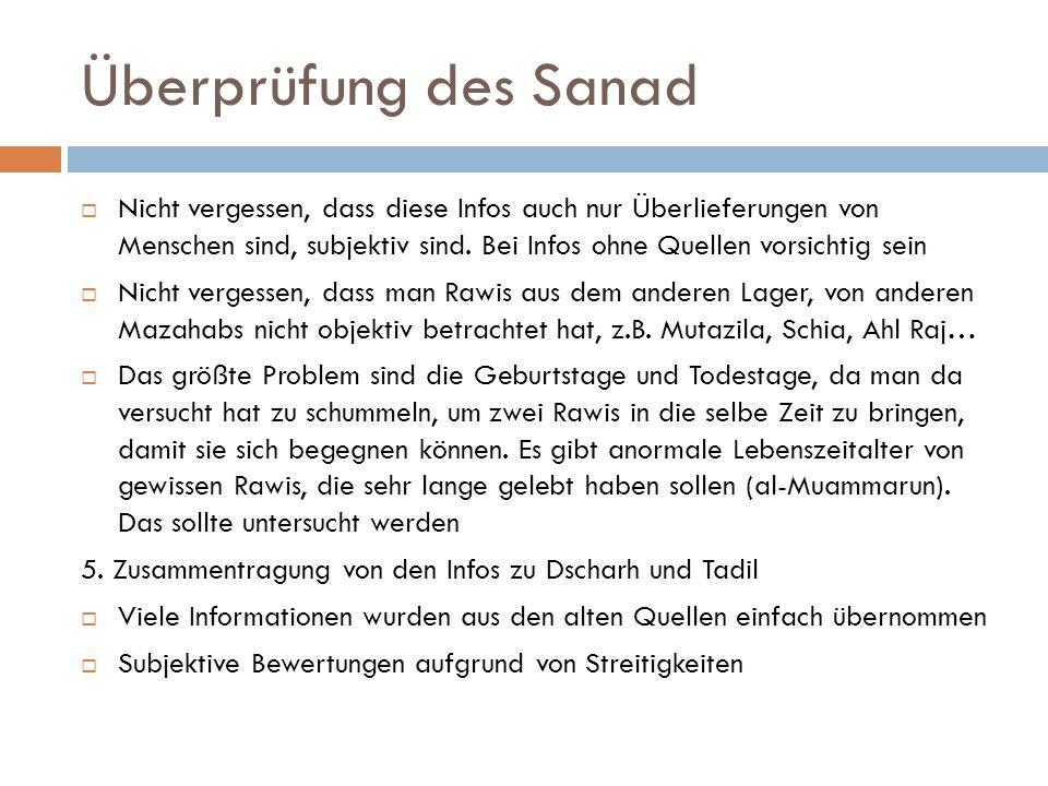 Überprüfung des Sanad