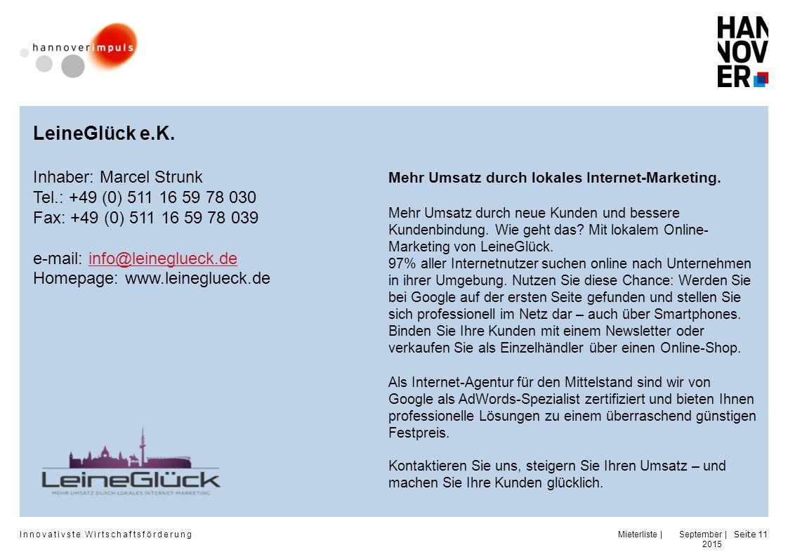 LeineGlück e.K. Inhaber: Marcel Strunk Tel.: +49 (0) 511 16 59 78 030