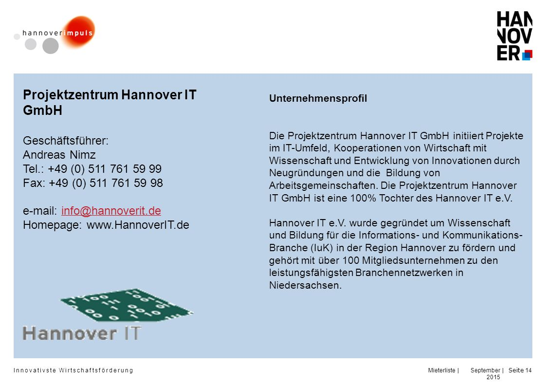Projektzentrum Hannover IT GmbH