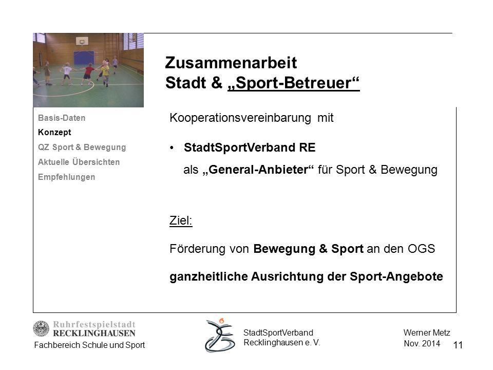 """Zusammenarbeit Stadt & """"Sport-Betreuer"""