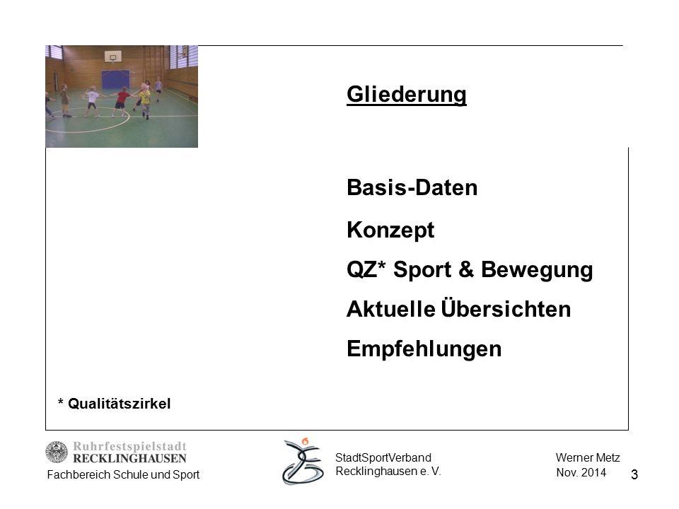 Gliederung Basis-Daten Konzept QZ* Sport & Bewegung