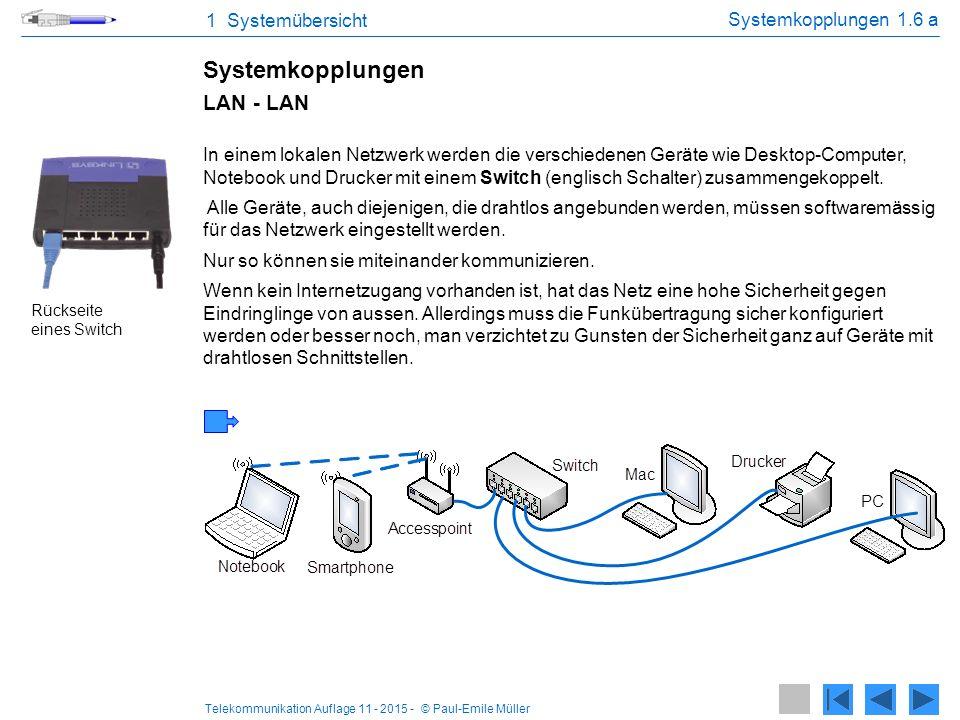 Systemkopplungen LAN - LAN 1 Systemübersicht Systemkopplungen 1.6 a