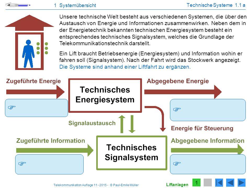 1 Systemübersicht Technische Systeme 1.1 a.