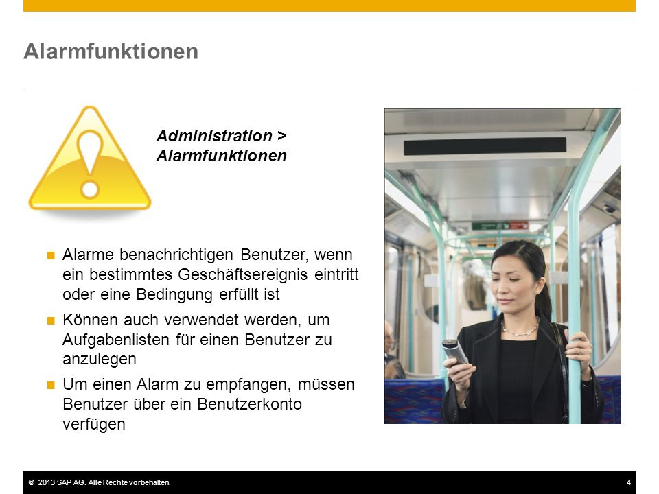 Alarmfunktionen Administration > Alarmfunktionen