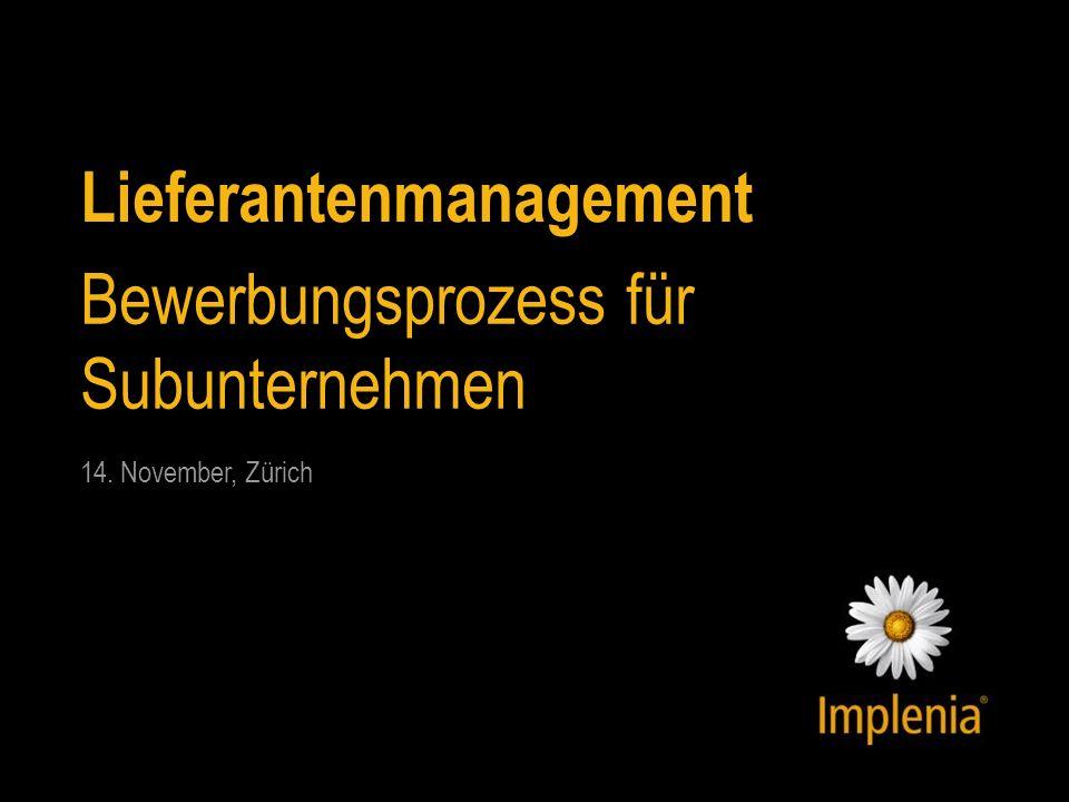 Lieferantenmanagement Bewerbungsprozess für Subunternehmen