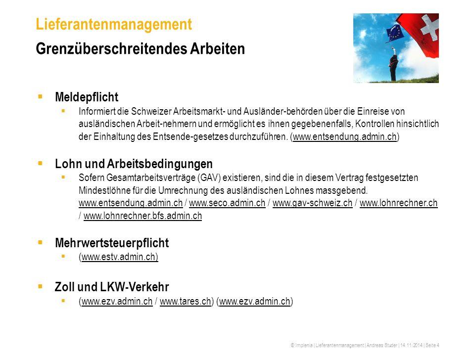 Lieferantenmanagement Grenzüberschreitendes Arbeiten