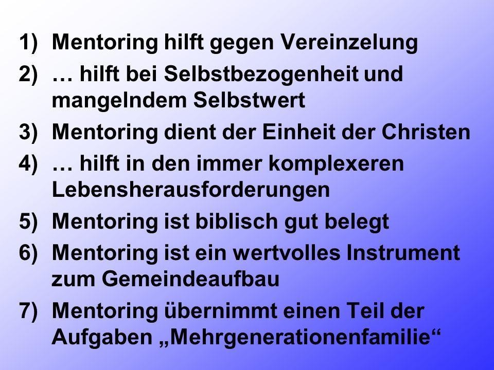 Mentoring hilft gegen Vereinzelung