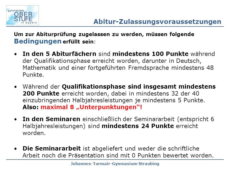 Abitur-Zulassungsvoraussetzungen