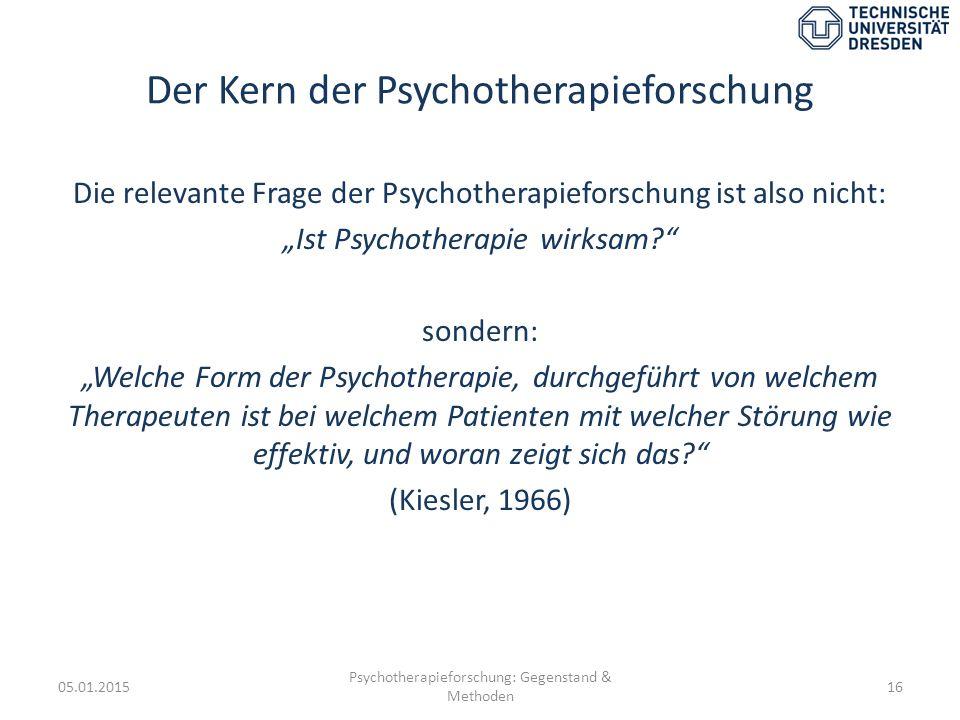 Der Kern der Psychotherapieforschung