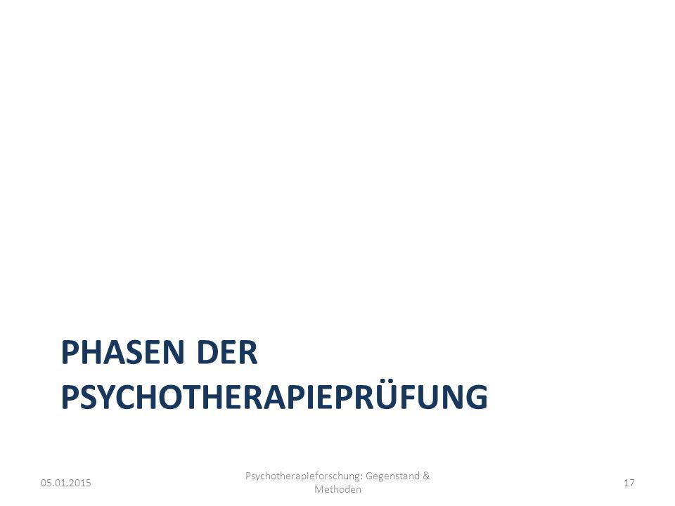 Phasen der Psychotherapieprüfung