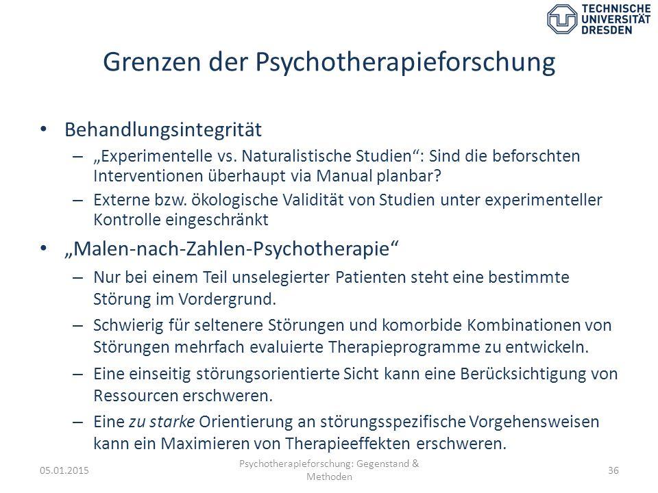 Grenzen der Psychotherapieforschung