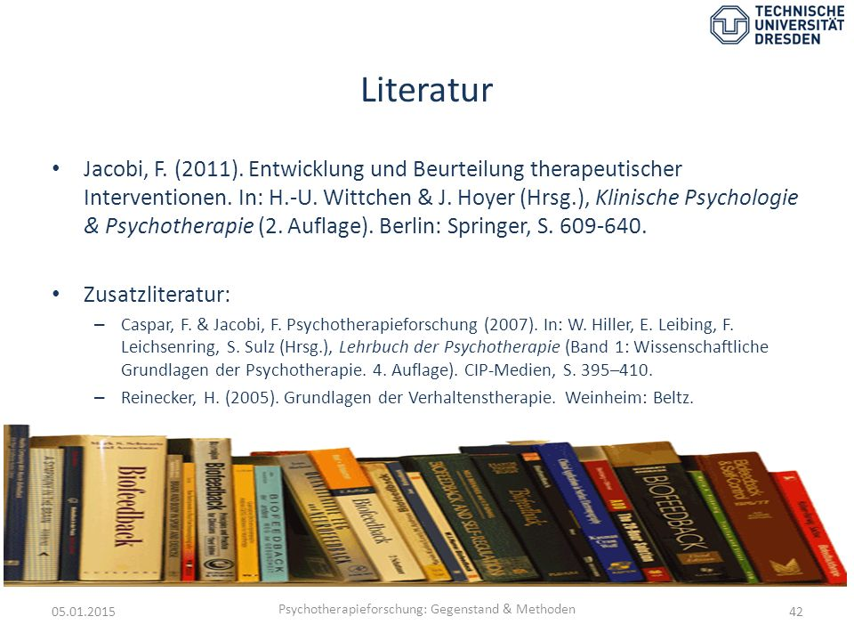 Psychotherapieforschung: Gegenstand & Methoden