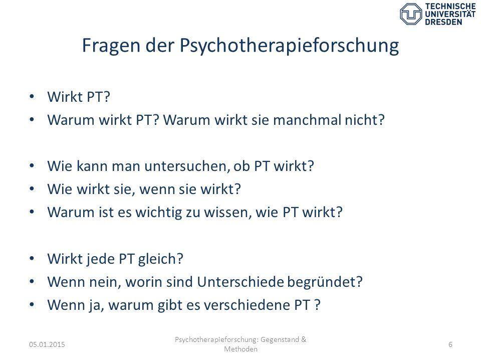 Fragen der Psychotherapieforschung