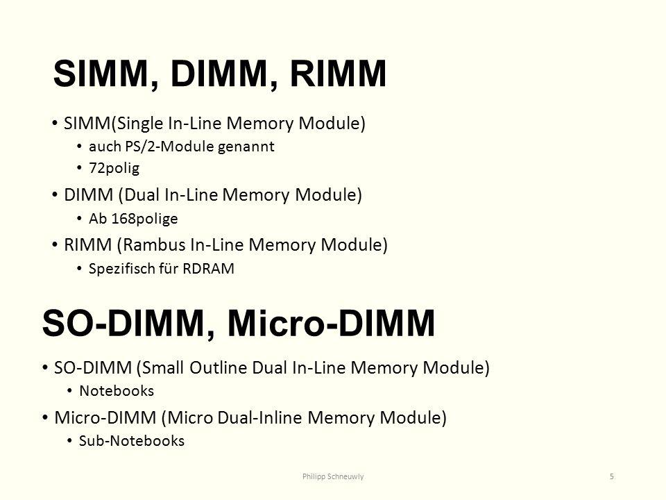 SIMM, DIMM, RIMM SO-DIMM, Micro-DIMM