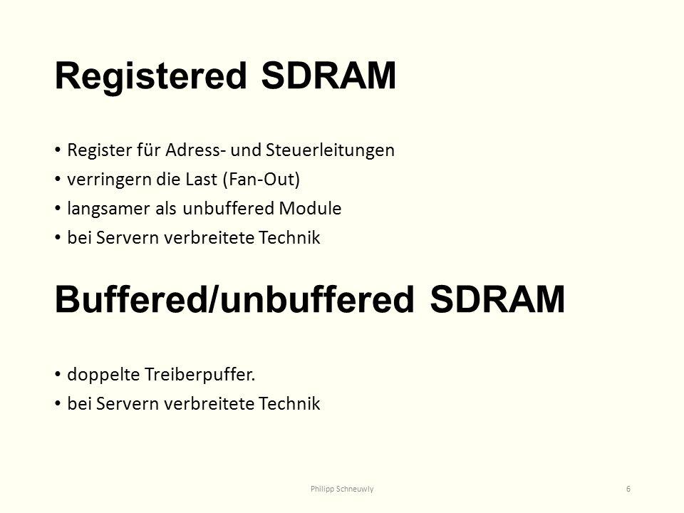 Buffered/unbuffered SDRAM