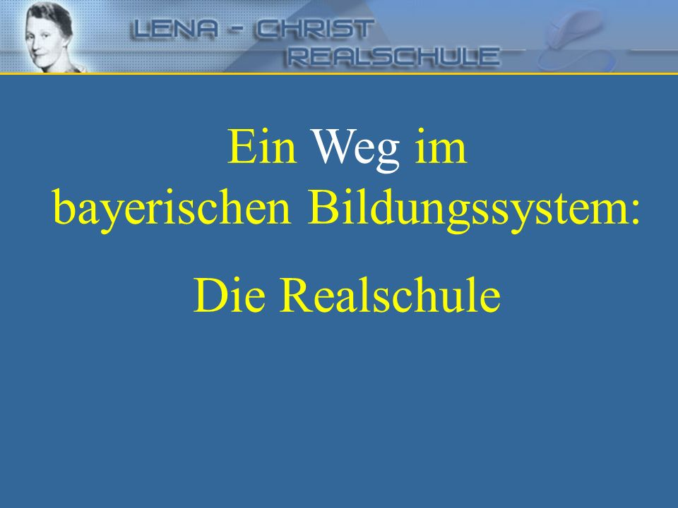 bayerischen Bildungssystem: