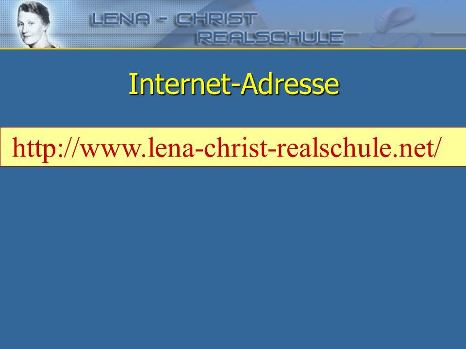 Internet-Adresse http://www.lena-christ-realschule.net/