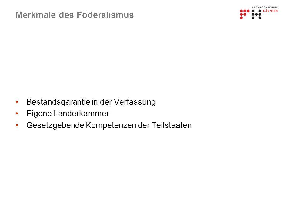 Merkmale des Föderalismus