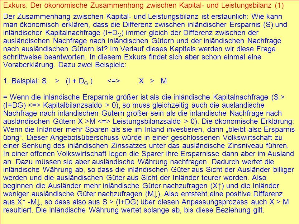 1. Beispiel: S > (I + DG ) <=> X > M
