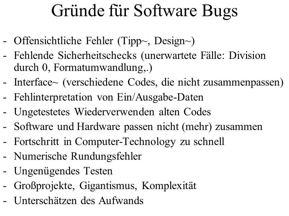 Gründe für Software Bugs