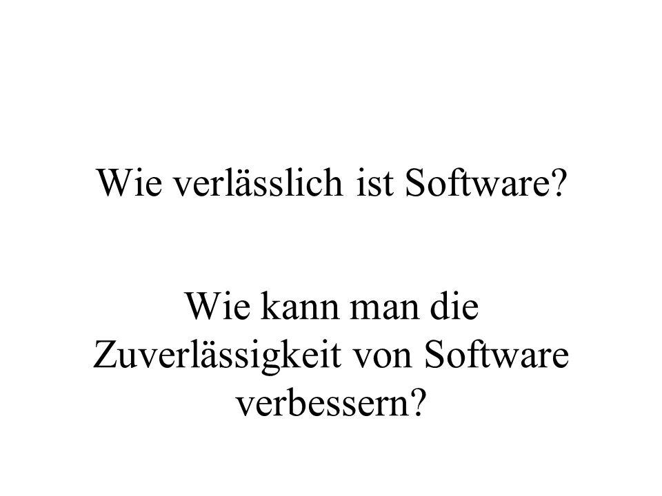 Wie verlässlich ist Software