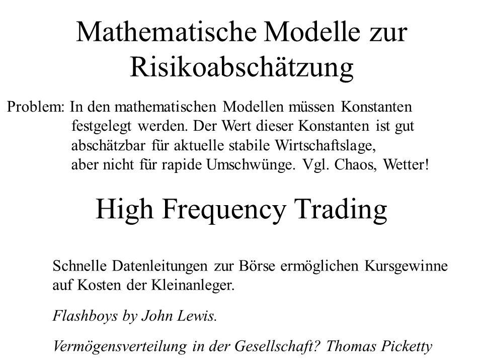 Mathematische Modelle zur Risikoabschätzung