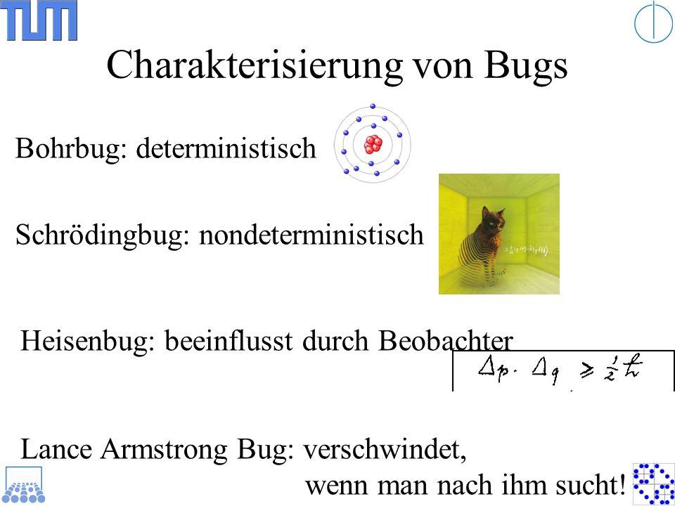 Charakterisierung von Bugs