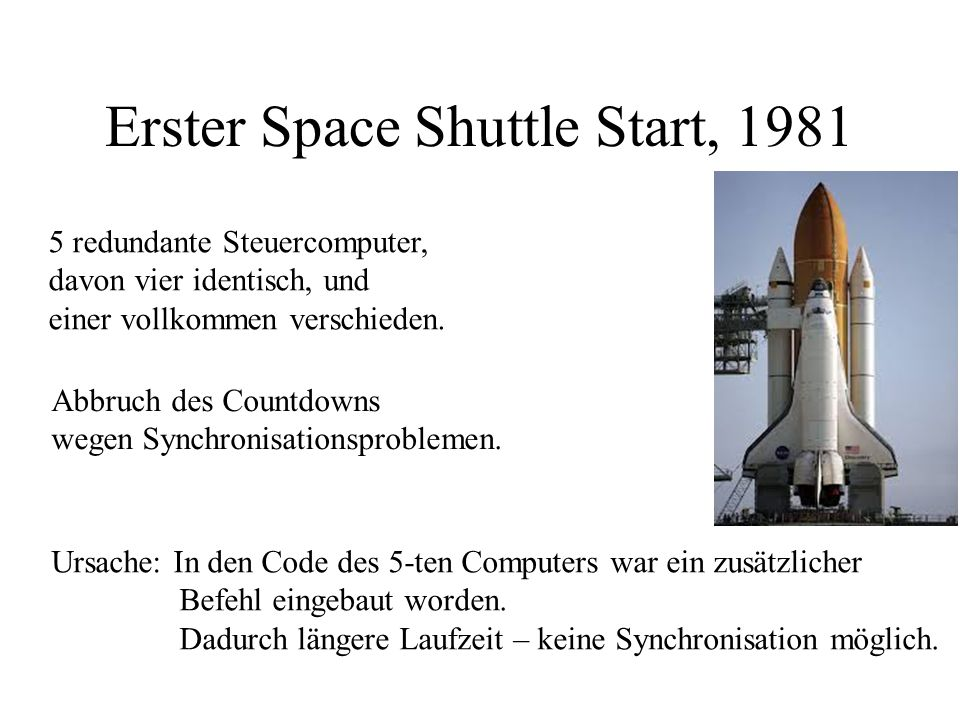 Erster Space Shuttle Start, 1981