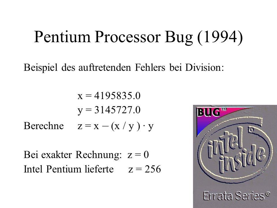 Pentium Processor Bug (1994)