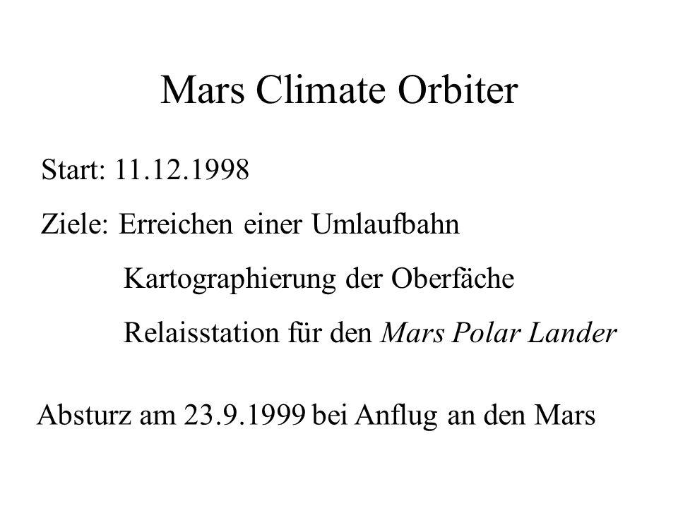 Mars Climate Orbiter Start: 11.12.1998