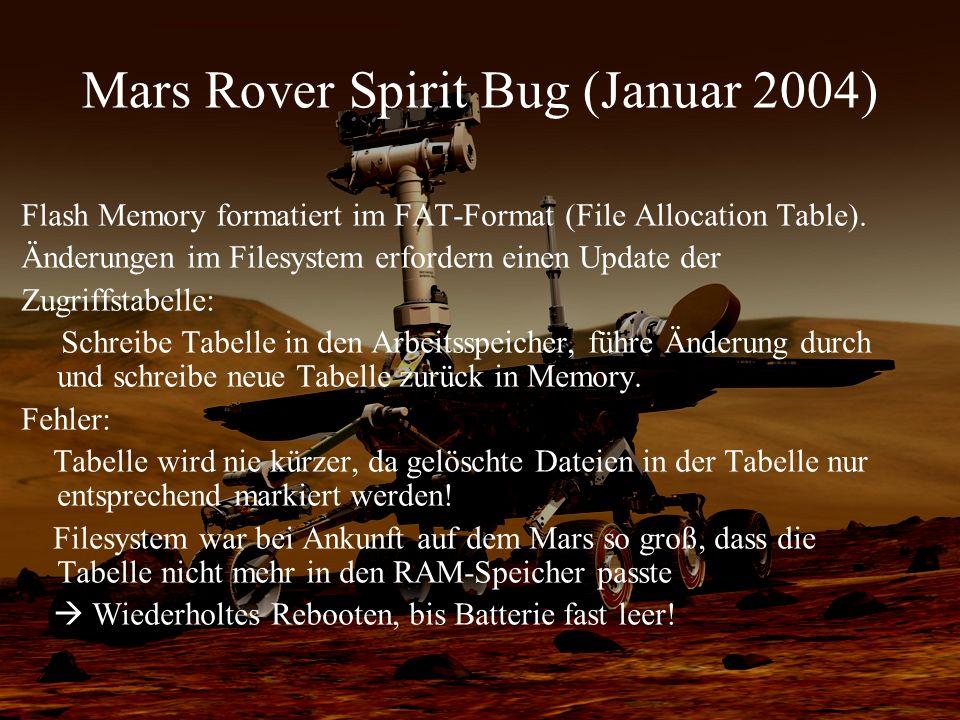 Mars Rover Spirit Bug (Januar 2004)