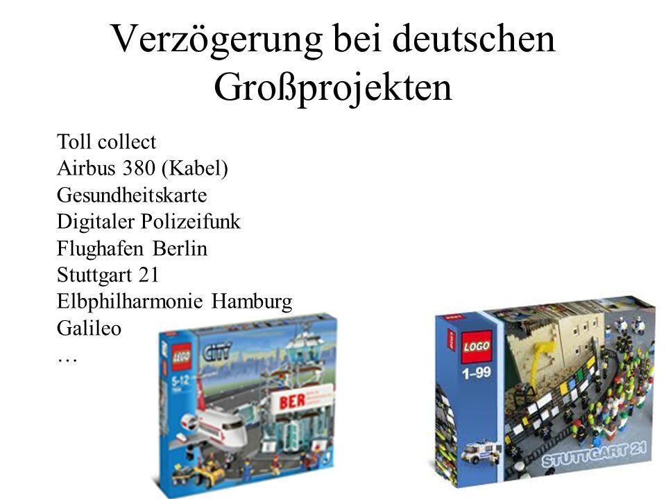 Verzögerung bei deutschen Großprojekten