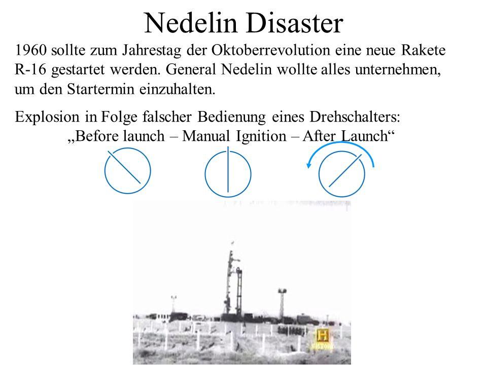 Nedelin Disaster 1960 sollte zum Jahrestag der Oktoberrevolution eine neue Rakete. R-16 gestartet werden. General Nedelin wollte alles unternehmen,
