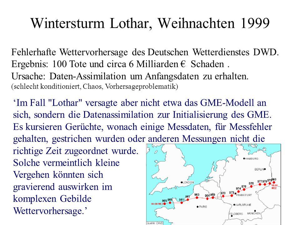 Wintersturm Lothar, Weihnachten 1999