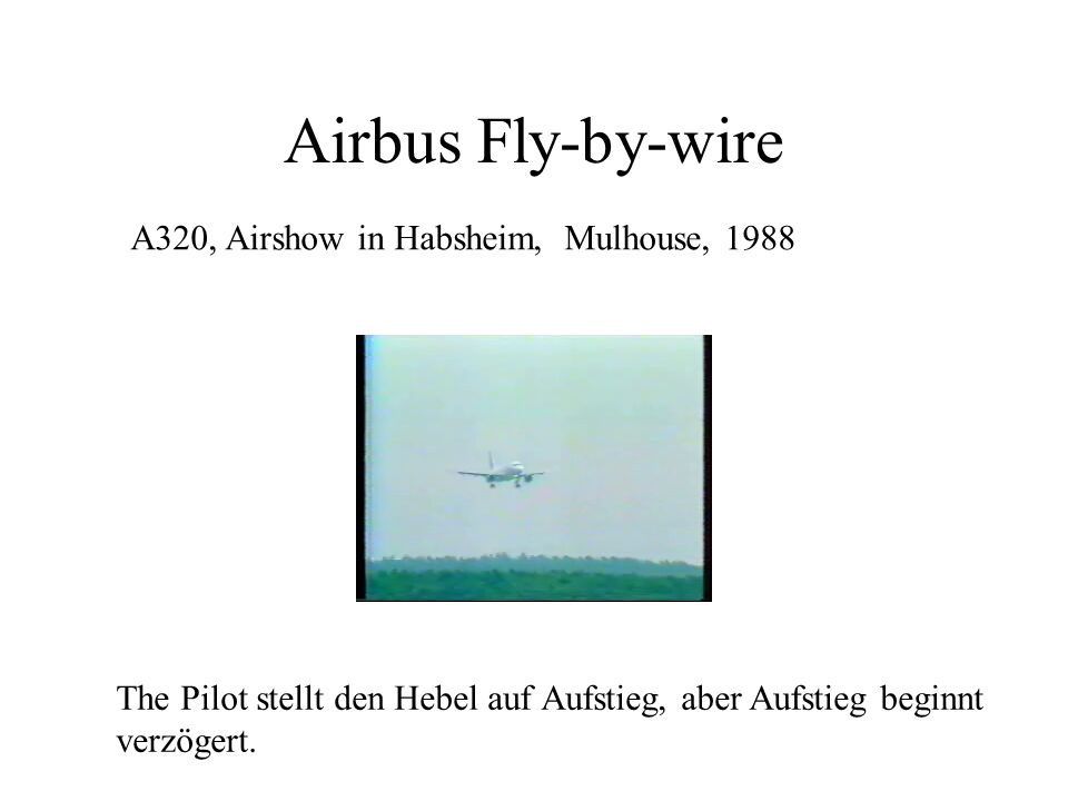 Airbus Fly-by-wire A320, Airshow in Habsheim, Mulhouse, 1988
